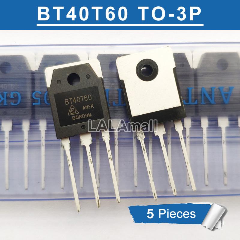 5pcs BT40T60 ทรานซิสเตอร์ Bt40T60 To - 3 P 40 T 60 Anf Anfd Anfk To3P 40A / 600 V Igbt 5 ชิ้น