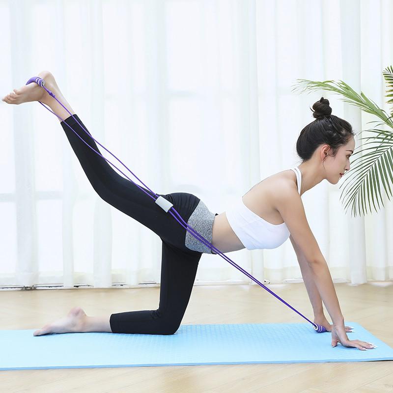 ยางยืดออกกําลังกาย☋8 rally back trainer เชือกยางยืด เชือกยางยืด ไหล่และคอ แถบยืด แขน อุปกรณ์ออกกำลังกาย
