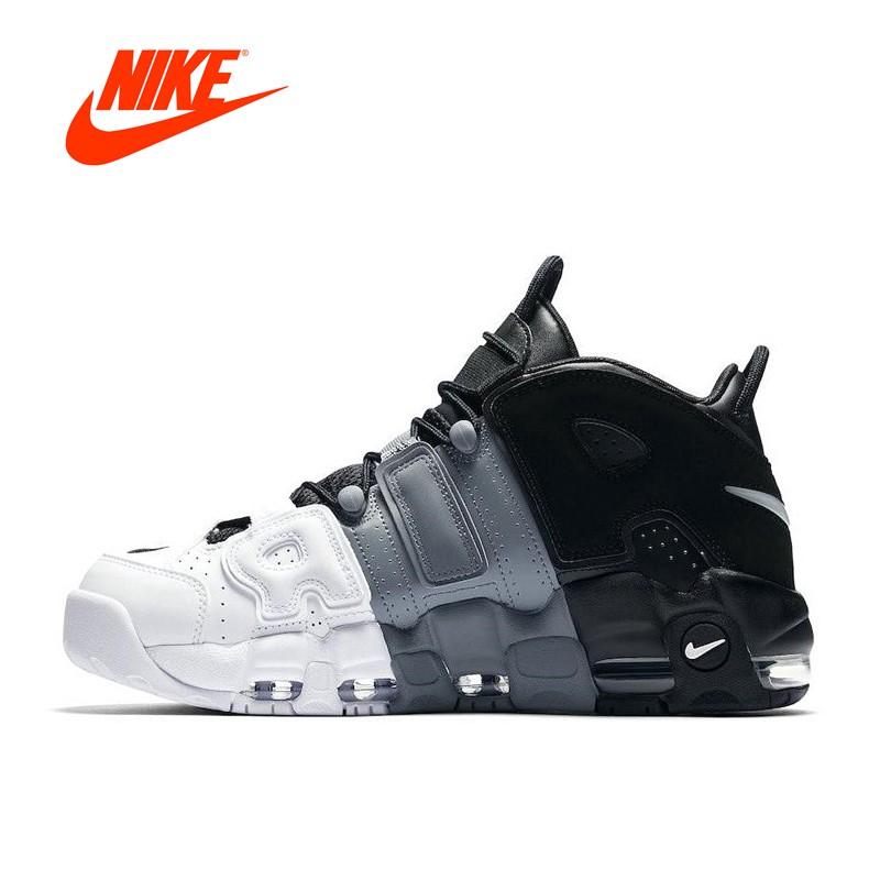 best quality sneakers for cheap get online Original Nouveau Authentique Nike Air Plus Uptempo de Tri-Couleur ...