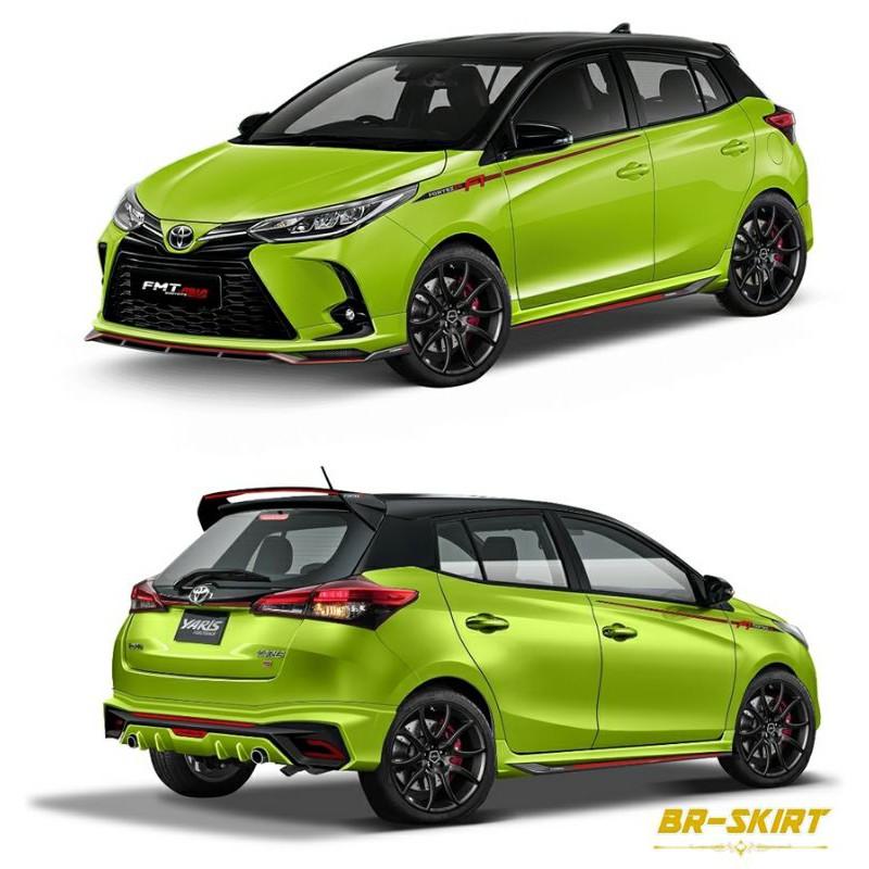 ♦️ชุดแต่งสเกิร์ต Toyota Yaris Hatchback 2021 รุ่น Fortezza♦️