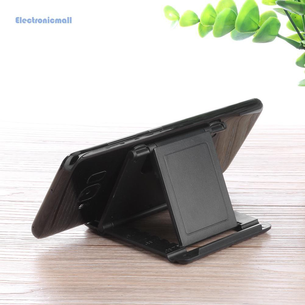 【ELE๑】Angle Adjustable Phone Holder Stand Folding Bracket for Phone 5-10inch Tablet