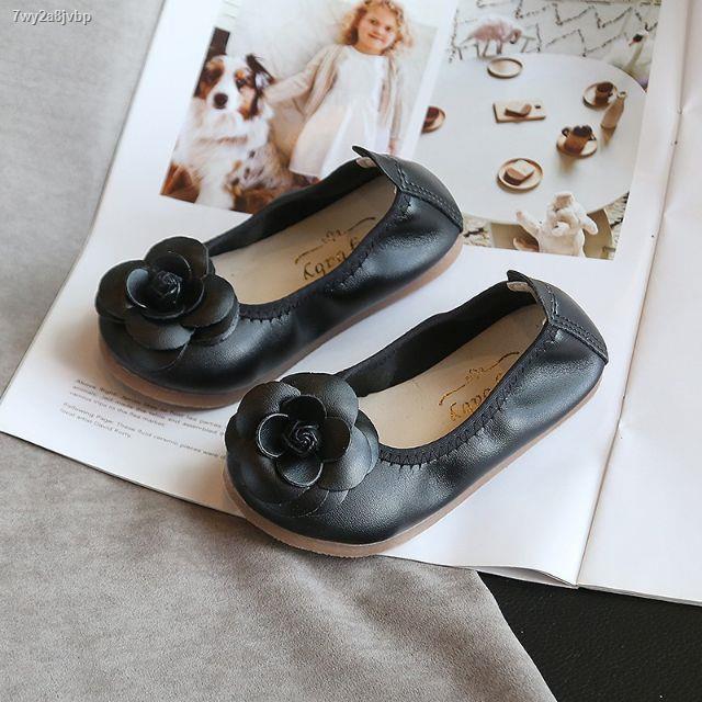 Lowest price☍✽รองเท้าเด็ก รองเท้าคัชชูแต่งดอกไม้