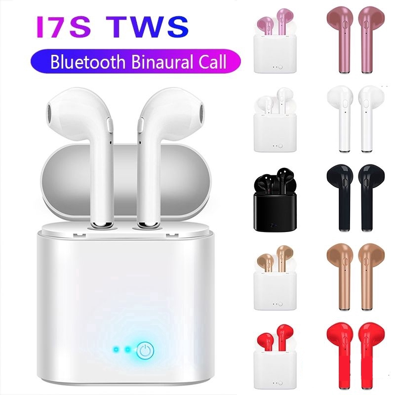 Wireless Earbuds Headsets Bluetooth 5.0 Headphones 3D Intelligent Noise Reduction【24Hrs Charging Case】 Pop-ups Auto Pairing iPhone Apple Samsung Airpods pro and Airpod in-Ear Wireless Headphones