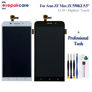 5 5'' For Asus ZenFone Max ZC550KL Z010D Full LCD DIsplay + Touch Screen  Digitizer Assembly + Frame Cover 100% Tested