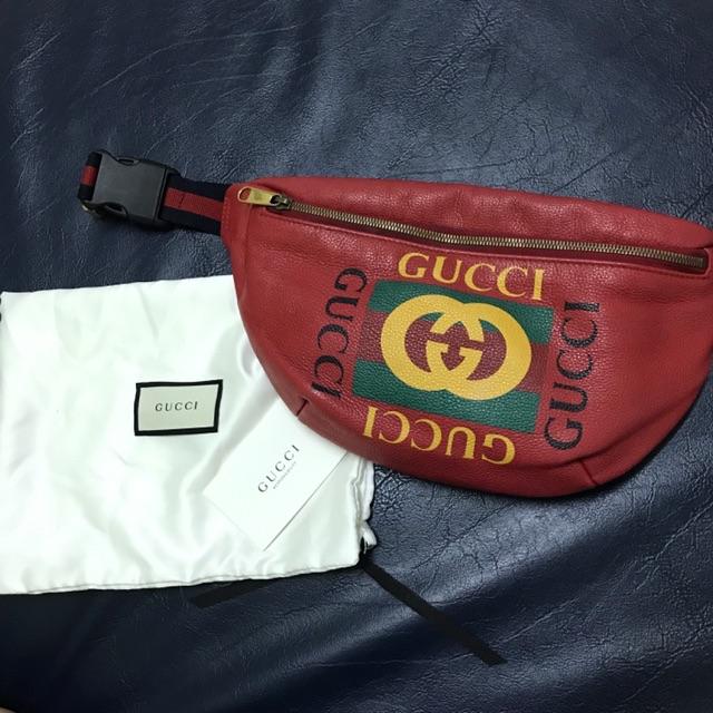 Gucci belt bag สีแดง