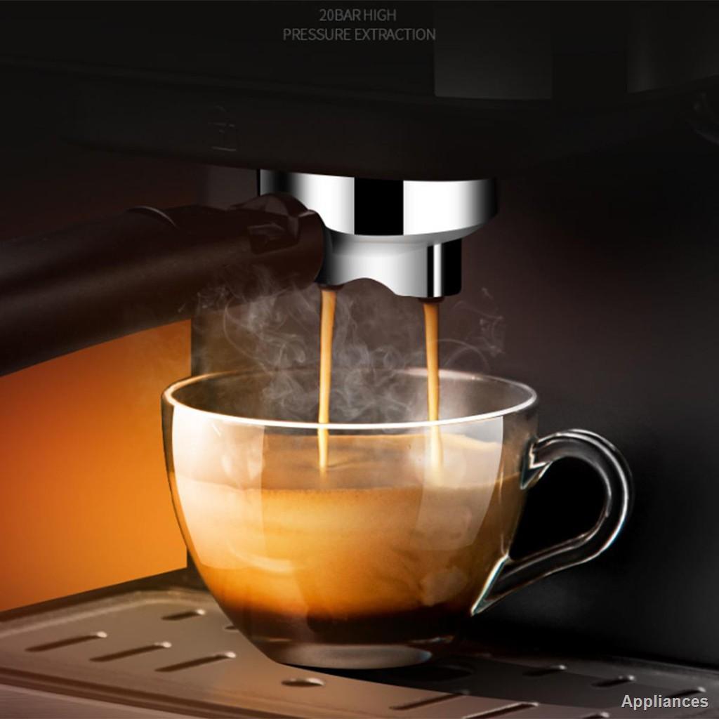 💕เตรียมจัดส่ง💕►∈✗เครื่องชงกาแฟ เครื่องชงกาแฟเอสเพรสโซ การทำโฟมนมแฟนซี การปรับความเข้มของกาแฟด้วยตนเอง เครื่องทำกาแฟข