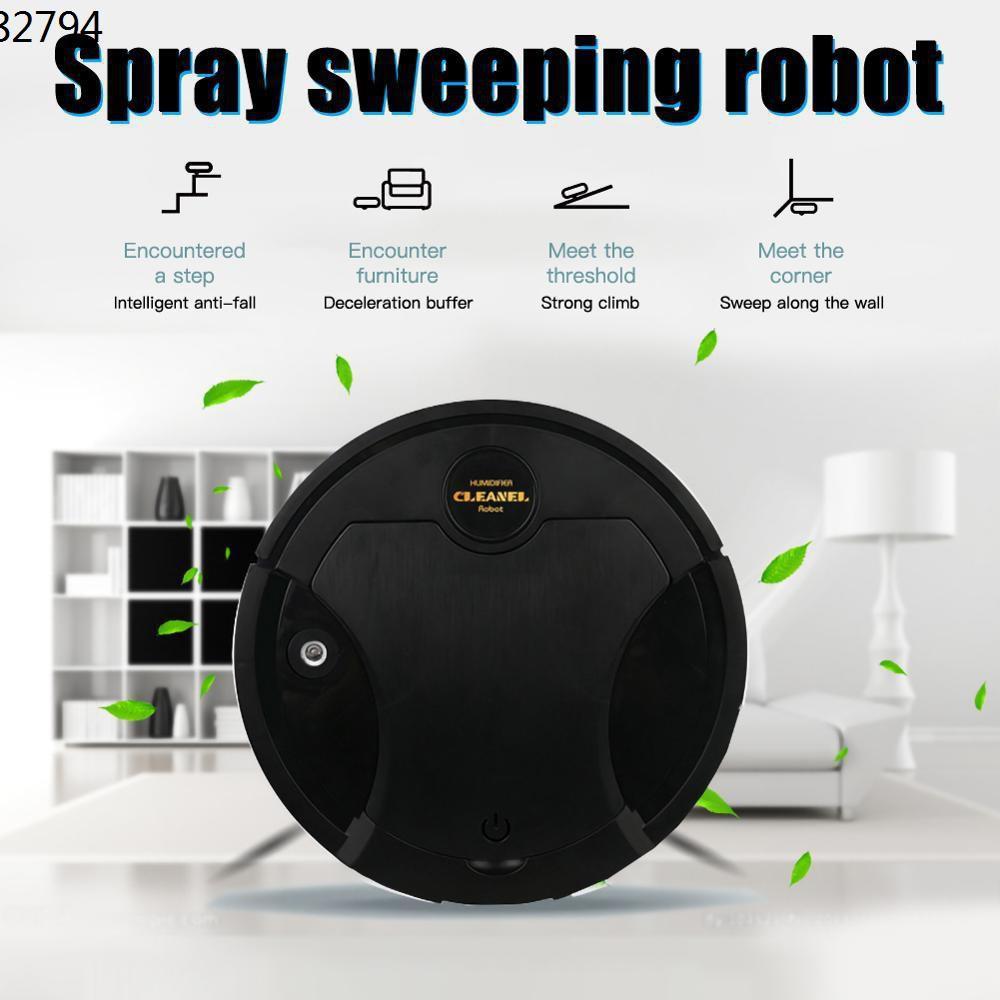 หุ่นยนต์ดูดฝุ่น ✴พร้อมส่งk﹉❗❗ หุ่นยนต์ดูดฝุ่น สเปรย์นาโน  เครื่องกวาดอัตโนมัติ ฆ่าเชื้อโรคด้วยไอน้ำ ถูพื้นอัตโนมัติ S003