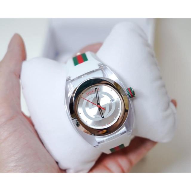 นาฬิกา Gucci SYNC XXL YA137102 Watch #GUCCI #Sync XXL #SunBrushed  #DialWatch