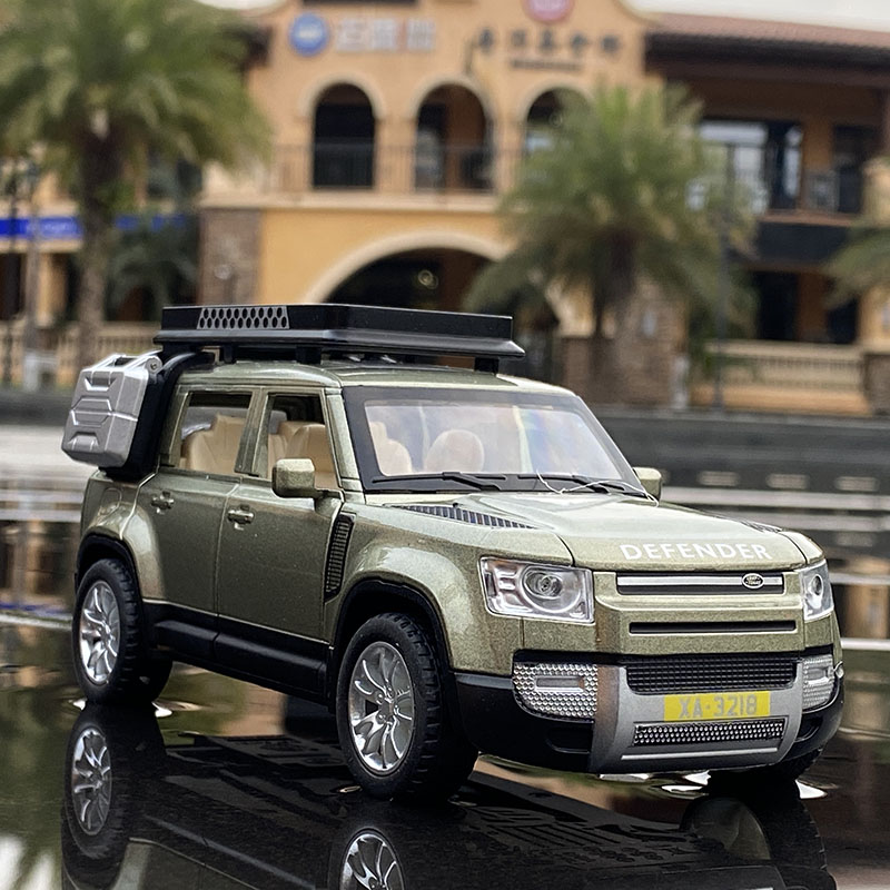 1:32 Land Rover Defender SUV Cars Model Baby Diecast Alloy Kid Toys For Children