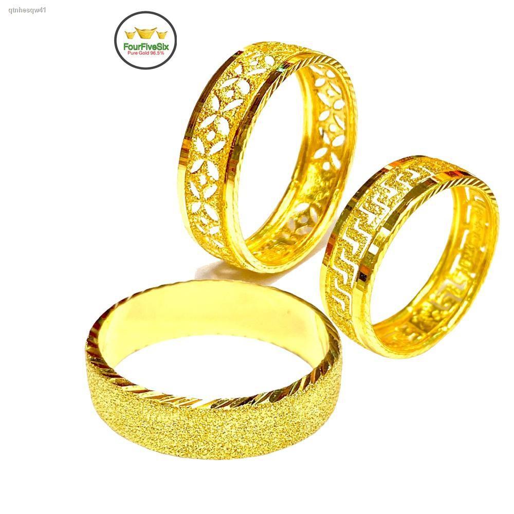 ราคาต่ำสุด♀▫▲Flash Sale แหวนทองครึ่งสลึง ทรายแก้ว หนัก 1.9 กรัม ทองคำแท้96.5%
