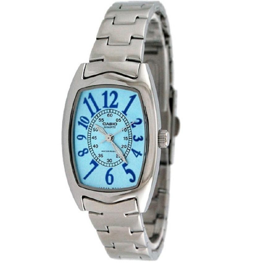 Casio Standard นาฬิกาข้อมือผู้หญิง สายสแตนเลส รุ่น LTP-1208D-2BDF - สีเงิน/ฟ้า