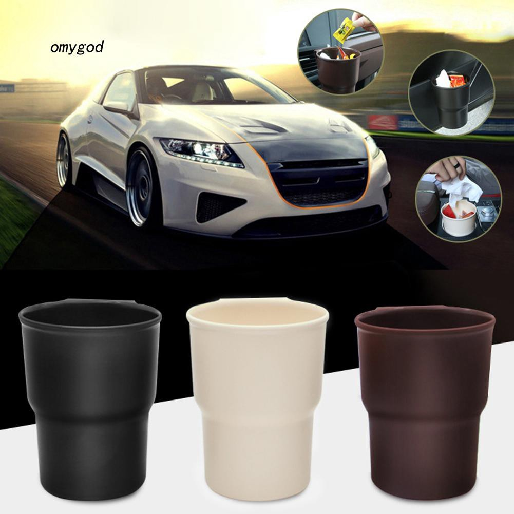 Appearantes Fashion Car Rubbish Dustbin Vehicle Trash Can Car Storage Case Side Hanging Automobile Trash Bin Auto Accessorie
