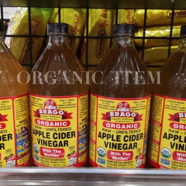 (ขวดใหญ่สุด) BRAGG Apple Cider Vinegar Organic 946ml. ACV