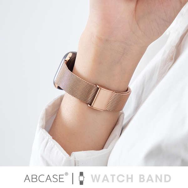 สาย applewatch ABCASE เหมาะสำหรับสายรัด iwatch Milanese Apple Watch 6 สายสแตนเลส Apple 5 / SE สายโลหะสร้างสรรค์ applewat