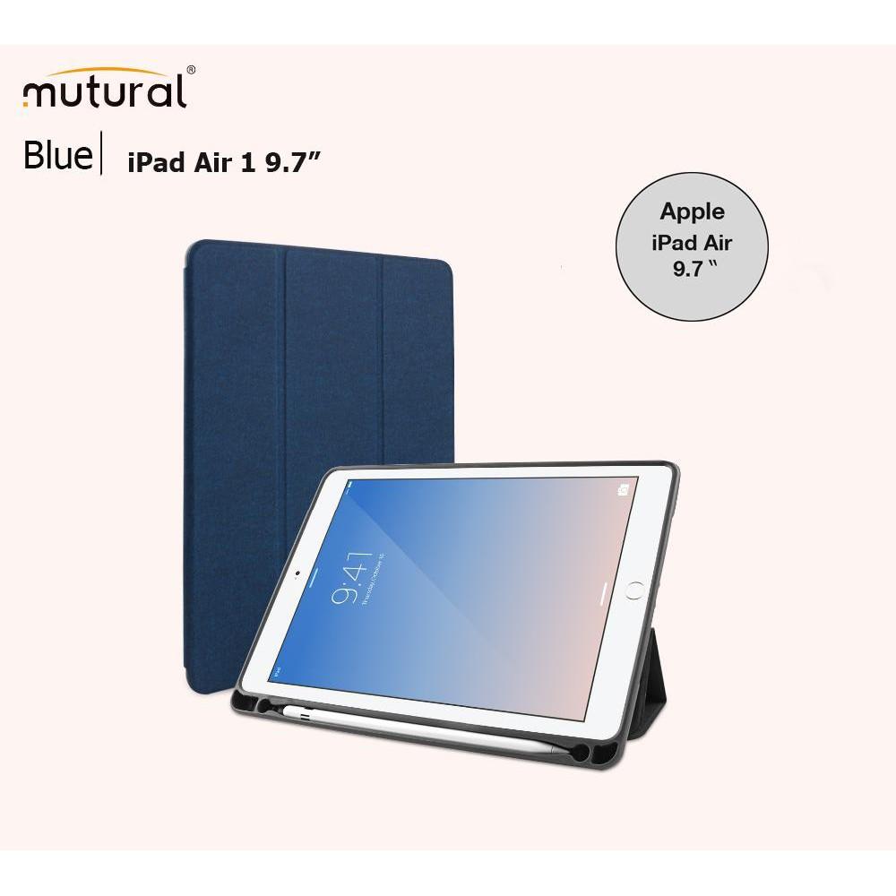 "Mutural iPad Case With Apple Pencil Holder เคสไอแพตฝาพับ ของแท้ สำหรับ Apple iPad Air2 9.7 "" inch"