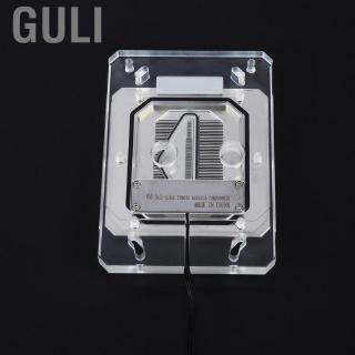 Review Guli G1/4 Water Cooling Waterblock Fast Heat Dissipation CPU Block with Light for AM3/AM4/TR4