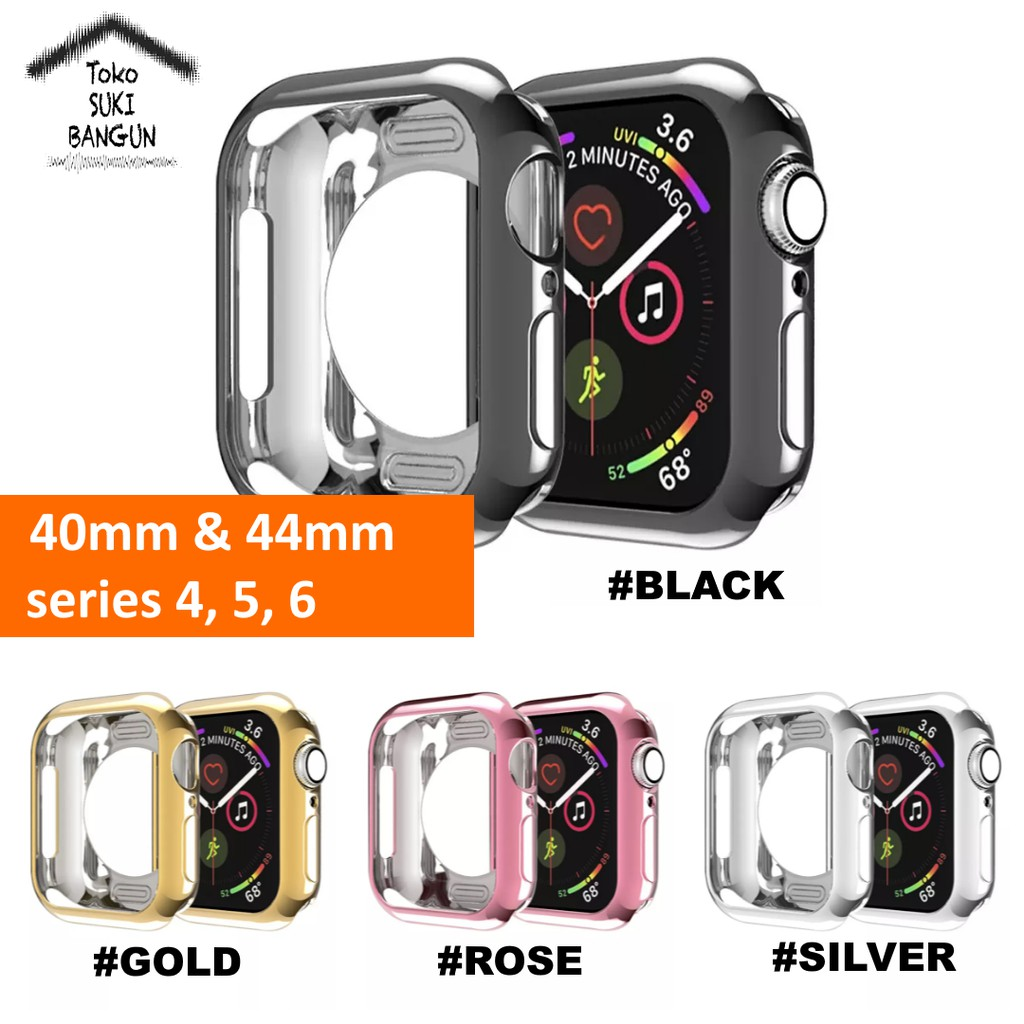 เคสนาฬิกาข้อมือซิลิโคนสําหรับ Apple Watch Case Series 6 5 4 40mm 44mm