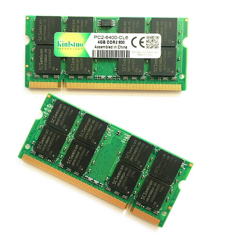Kinlstuo memory ram ddr2 4gb 800Mhz pc2-6400  ddr2 rams  4gb 667 pc2-5300 sodimm notebook 4gb ddr2 memory compatible wit