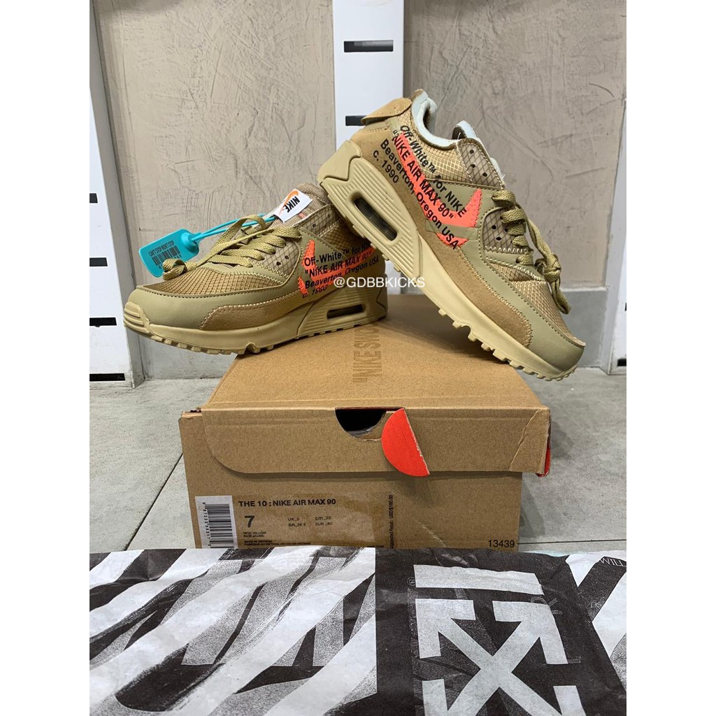 Nike Airmax 90 X Offwhite Desert Ore รองเท้าผ้าใบลําลองสีขาว