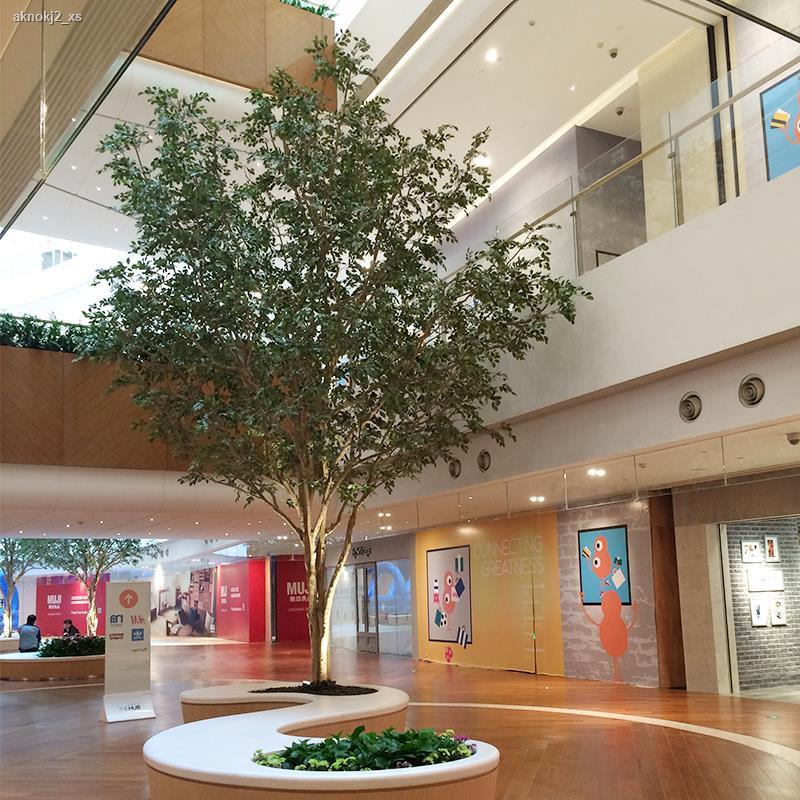 การจำลองพันธุ์ไม้อวบน้ำ♕เลียนแบบต้นไม้ขนาดใหญ่ปลอมต้นไม้ banyan พืชสีเขียว potted โรงงานจำลอง Courtyard ล็อบบี้โรงแรม bo