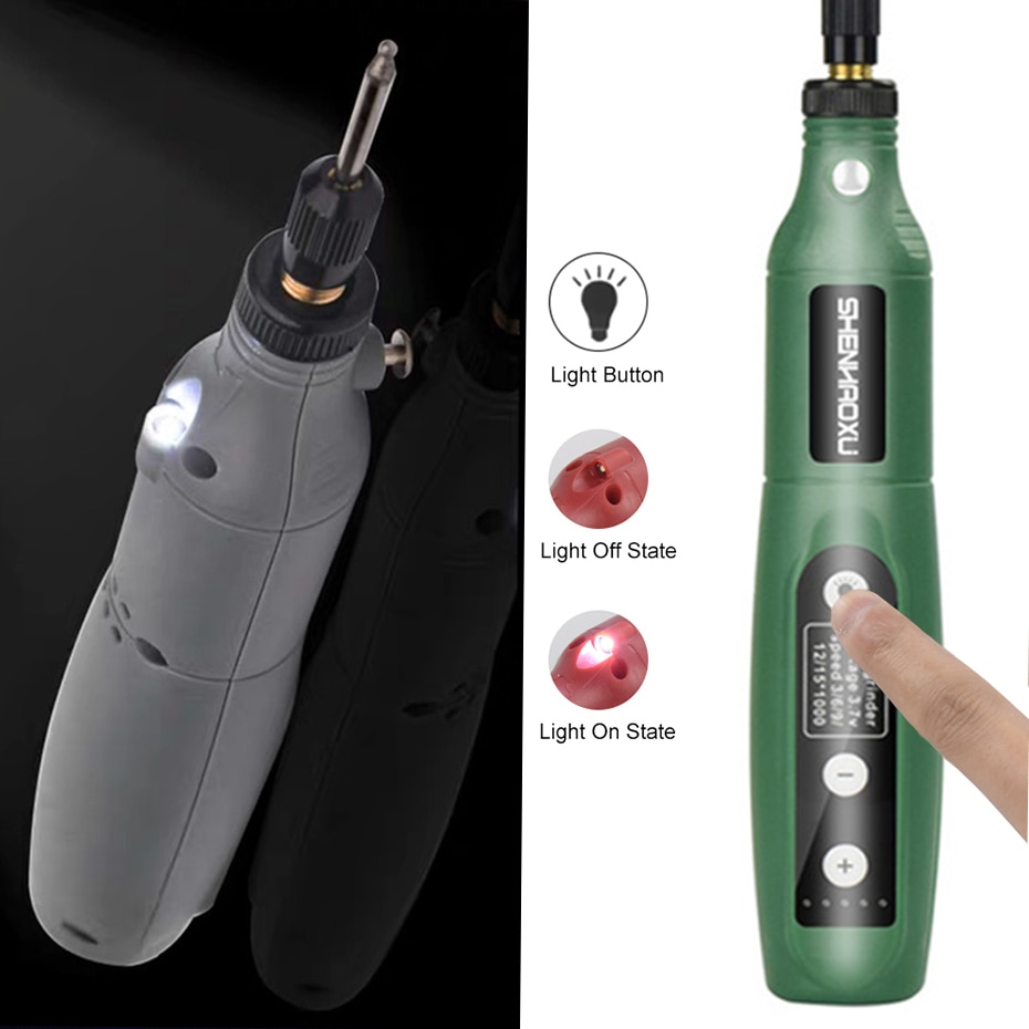 Cordless Grinder Electric Drill 5speed Adjustable Engraving Pen Cutting Polishing Drilling Rotary Tool With Dremel Acces Shopee Thailand