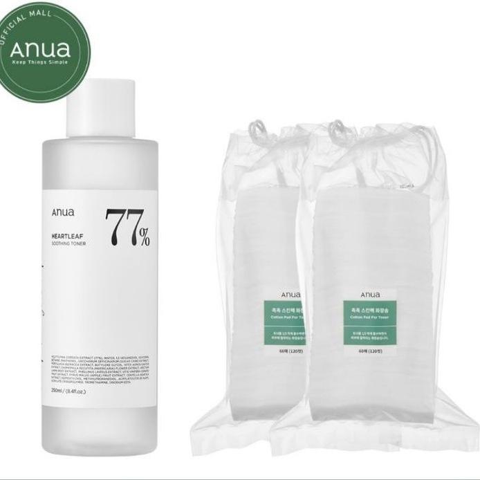 (🍒แท้/พร้อมส่ง🍒)Anua toner 250ml.เเละ40ml/Anua cotton pad สำลี Anua เเท้100%โทนเนอร์พี่จุน