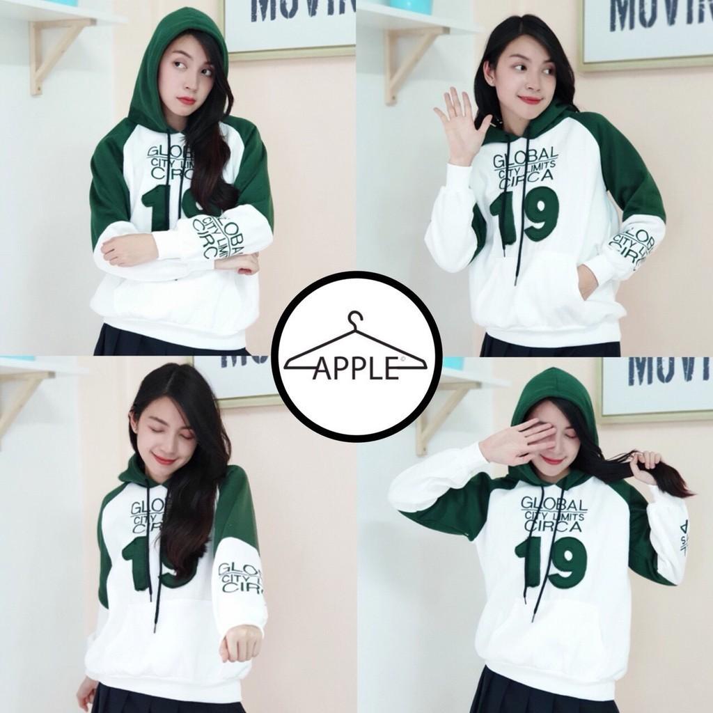Apple เสื้อแขนยาวมีฮู้ด เสื้อกันหนาว Global City  Limit 19 เนื้อดี พร้อมส่งแล้ว เสื้อกันหนาว