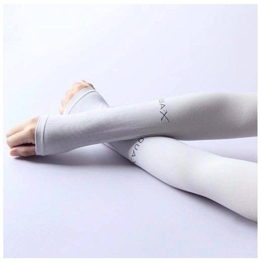 ปลอกแขนกันแดด AQUA-X ปลอกแขน กัน UV free size