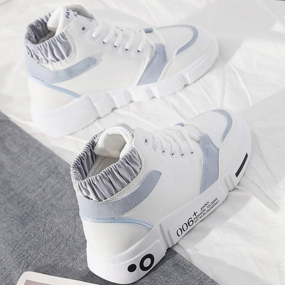 ร้องเท้า รองเท้าคัชชู รองเท้าผู้หญิง ☝รองเท้าระดับสูงของเด็กเวอร์ชั่นเกาหลีของป่า 2021 ฤดูใบไม้ร่วงและฤดูหนาวใหม่บวกกำมะ