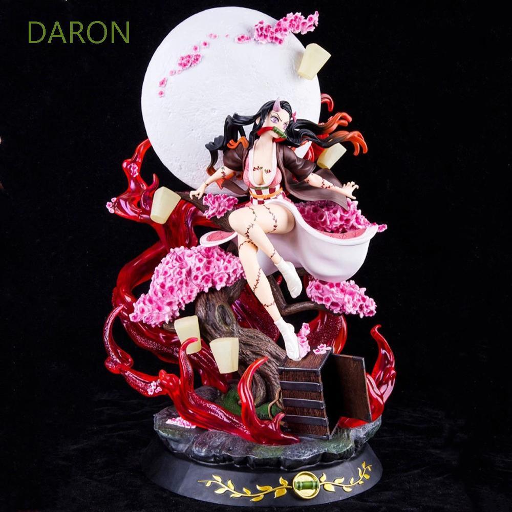 DARON Model Statue Action Figure Collectible Model Anime Figure Kamado Nezuko Figure Toy Kimetsu no Yaiba Gifts PVC Model Doll 31cm Demon Slayer