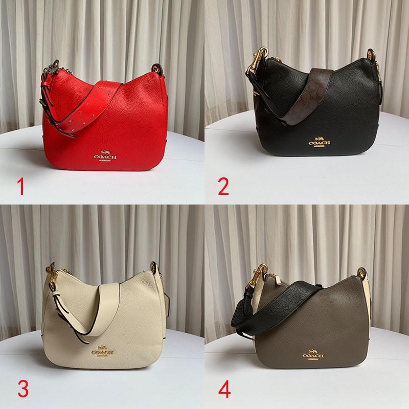 COACH 76695 76696 Coach's new women's bag Shoulder bag Crossbody bag Handbag Side backpack Wide shoulder bag crescent ba