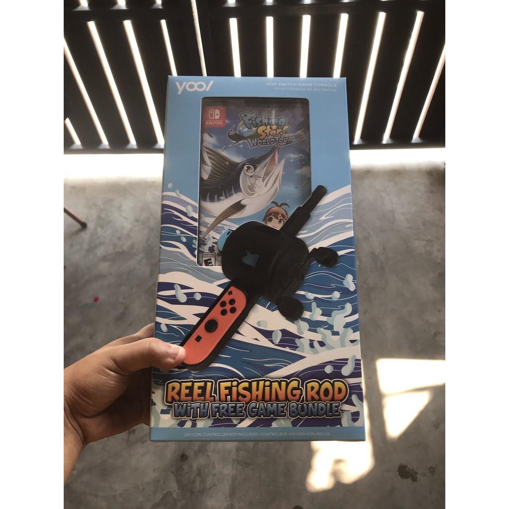 เกมส์ตกปลา NINTENDOSWITCH: Reel Fishing Rod Bundle with Fishing Star World Tour (มือสองสภาพดีมาก)