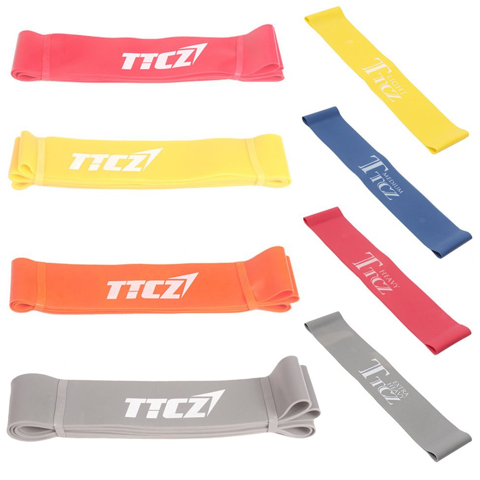 H-style😍สายยางยืดออกกําลังกาย Elastic Tension Resistance Band Fitness Rubber Loop Band Yoga Equipment