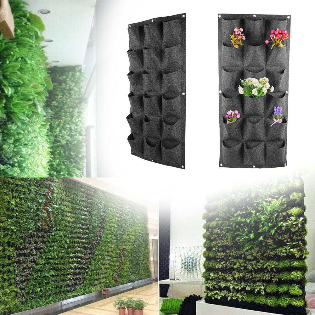Vertical Garden Hanging Green Wall Planters Large Garden Pots 64 Pocket Pot