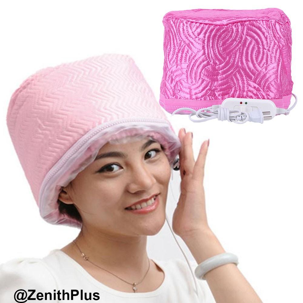 💕☽✓۞หมวกอบไอน้ำ หมวกอบไอน้ำด้วยตัวเอง ไฟฟ้า ผมนุ่มลื่น สวย ง่ายนิดเดียว (สีชมพู)