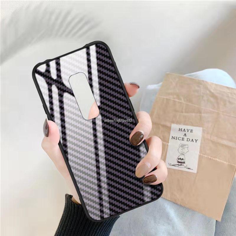 【พร้อมส่ง】✒เคสกระจก ลายเคฟล่า iPhone 11 Pro Max 6 6s Plus OPPO A57 R9s Samsung M30s เคส เคสกระจกไอโฟน case xs samsung