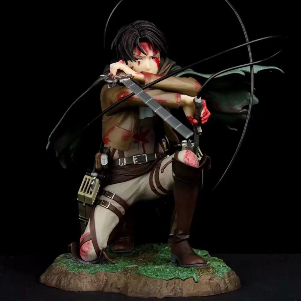 ของเล่นฟิกเกอร์ Attack On Titan Artfx J Levi 18 ซม . Figure gift