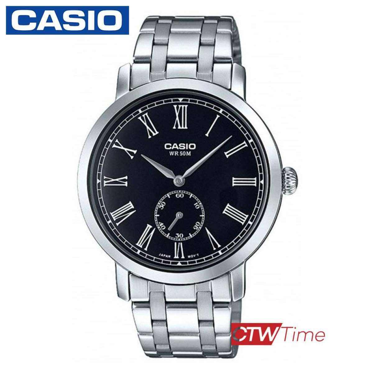 ส่งฟรี !! CASIO Standard นาฬิกาข้อมือผู้ชาย สายสแตนเลส รุ่น MTP-E150D W6fQ