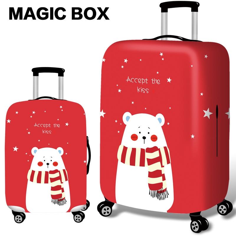 ผ้าคลุมกระเป๋าเดินทาง แฟชั่น  กระเป๋าเดินทางป้องกันกรณีกันน้ำ  ยืดหยุ่นกระเป๋าเดินทางสำหรับ 18-32 นิ้ว