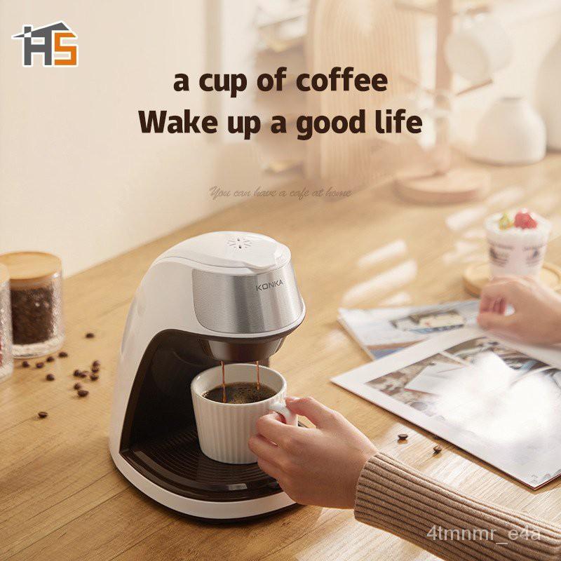 HS เครื่องชงกาแฟ 300มล เครื่องชงกาฟสด เครื่งชงกาแฟสด เครื่องทำกาแฟauto เครื่องชงกาแฟพกพา เครื่อชงกาแฟสด เครืองชงกาแฟสด E