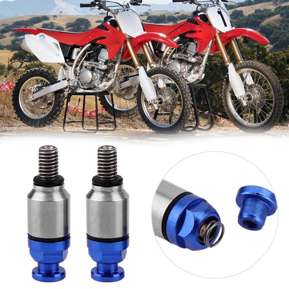 Red Everpert 1 Pair M5x0.8mm Fork Air Bleeders Pressure Relief Valves for Motocross Dirt Bike