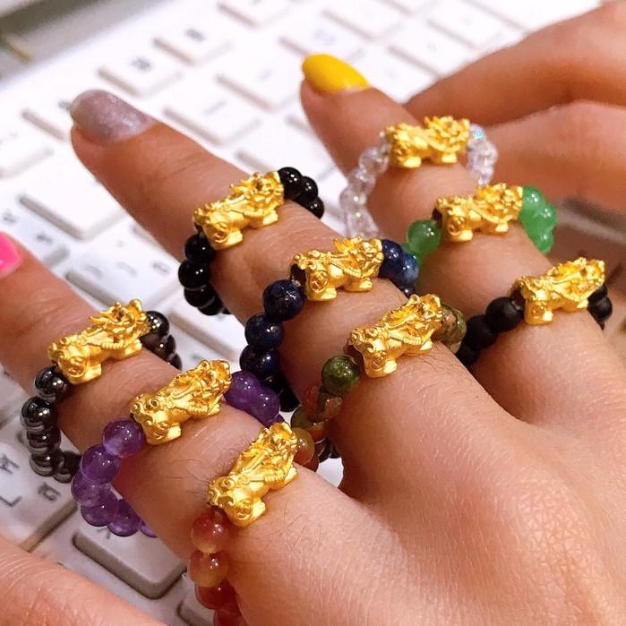 แหวนปี่เซียะ ทองคำแท้ 99.99% น้ำหนัก 0.2-0.25กรัม ขายคืนได้ตามราคาทองคำแท่ง KPTGOLD มีใบรับประกันทอง
