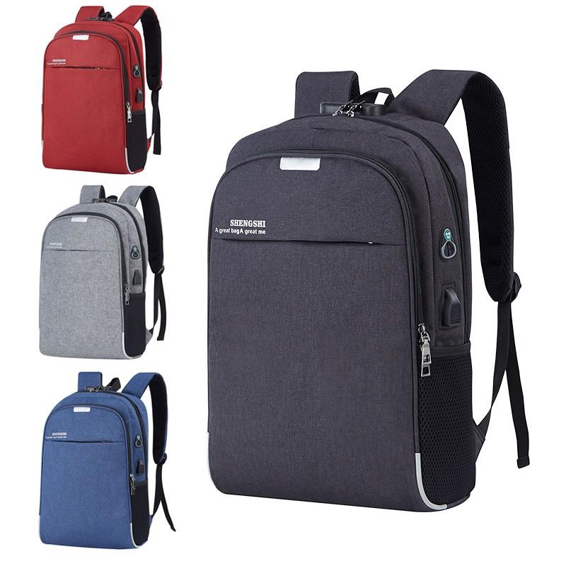 ⊙กระเป๋าเดินทางแล็ปท็อปสำหรับนักธุรกิจกระเป๋าเป้สะพายหลังกระเป๋านักเรียนหญิงความจุขนาดใหญ่ 14 / 15.6 17.3 นิ้ว