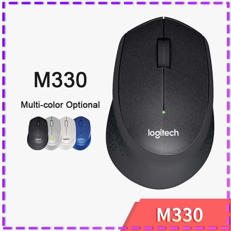 M 330 Logitech เมาส์ไร้สายสีด ํา Pk M 330