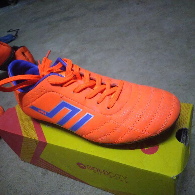 รองเท้าสตั๊ด ฟุตบอล - ของแท้มือสองราคาถูก รุ่น BAOJIสีส้ม เบอร์38