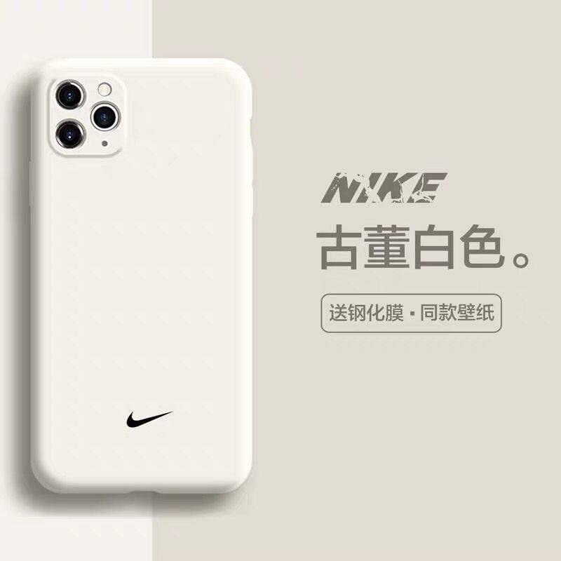 เคส iphone ❊Nike Apple 11 mobile phone case iPhonex liquid silicone all-inclusive 11ProMax/xr cover 7plus/8p/6sp✍