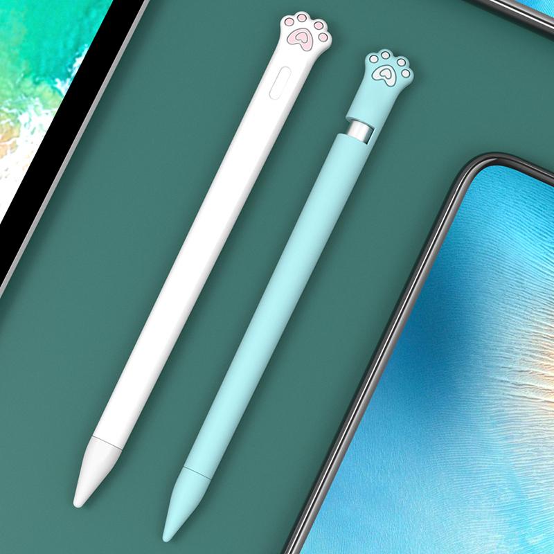 แอปเปิ้ลpencilแขนป้องกันipad pencilปากกา2รุ่นappleซิลิโคนปากกา1รุ่นป้องกันการสูญหายหมวกiphoneปากกา套网สีแดงapplepencilปากก
