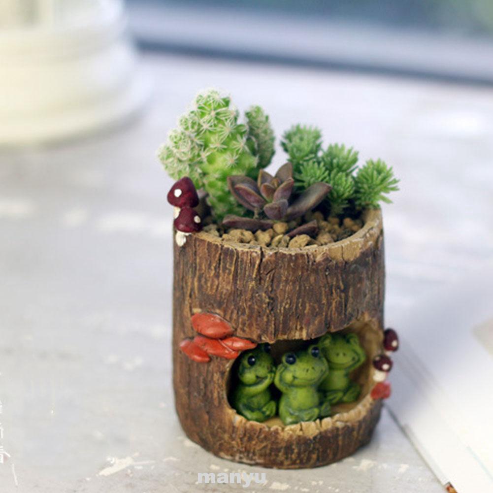 กระถางต้นไม้พืชอวบน้ำ ขนาดเล็ก รูปแบบตุ๊กตาสัตว์ สำหรับตกเเต่งโต๊ะทำงาน
