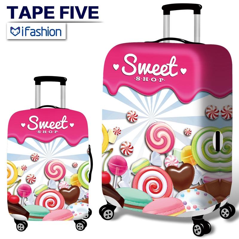 ผ้าคลุมกระเป๋าเดินทาง เมืองแฟชั่นกระเป๋าเดินทางป้องกัน กระเป๋าเดินทางฝุ่นอุปกรณ์เสริม  18 ถึง 32 นิ้ว