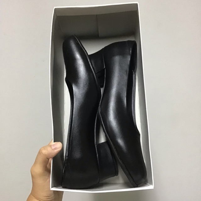 *พร้อมส่ง* รองเท้าผู้หญิง คัชชู คัชชูนักศึกษา สีดำ